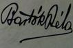 Bartók Béla aláírása